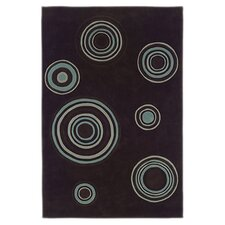 Trio Circles Chocolate/Spa Blue Rug