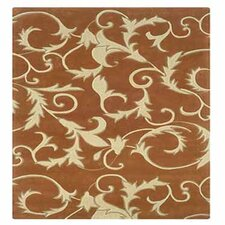 Trio With A Twist Pumpkin/Ivory Rug