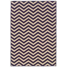 Salonika Purple Chevron Rug