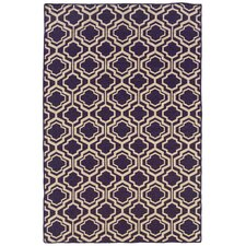Salonika Purple DB Quatrefoil Rug