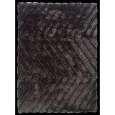 Links Charcoal Zigzag Rug