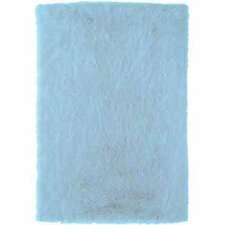 <strong>Linon Rugs</strong> Faux Sheepskin Blue Rug