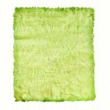 Faux Sheepskin Green Rug