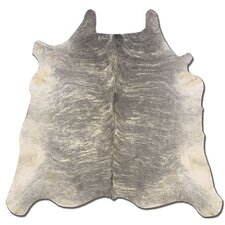 Natural Cowhide Full Skin Light Brindle Rug