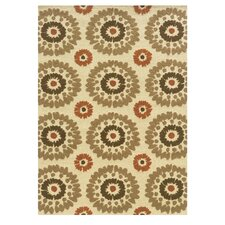 Le Soleil Ivory/Terracotta  Outdoor Rug