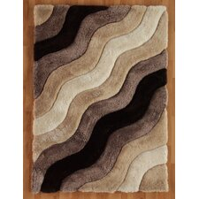 Links Brown Wave Rug