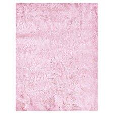 Faux Sheepskin Pink Rug