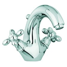 Olivia Single Hole Bathroom Sink Faucet with Double Cross Handles