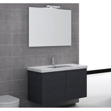 "Space 39"" Single Wall Mount Bathroom Vanity Set with Mirror"