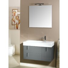"Enjoy 35"" Wall Mounted Bathroom Vanity Set with Single Sink"