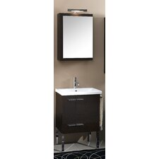 "Simple 23"" Wall Mounted Bathroom Vanity Set with Single Sink"