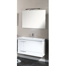 "Simple 39"" Wall Mounted Bathroom Vanity Set with Single Sink"