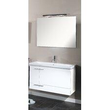 """Simple 39.3"""" Wall Mounted Bathroom Vanity Set"""