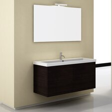 "Space 46.8"" Wall Mount Bathroom Vanity Set"
