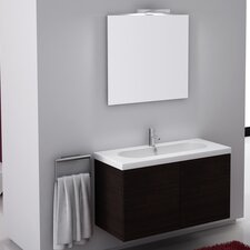 "Trendy 39"" Single Wall Mount Bathroom Vanity Set with Mirror"