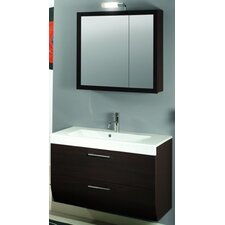 """New Day 38"""" Single Wall Mounted Bathroom Vanity Set with Mirror"""