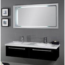 "Fly 57"" Double Bathroom Vanity Set with Mirror"