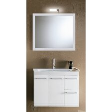"Linear 30.4"" Wall Mounted Bathroom Vanity Set"