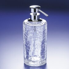 Crackled Glass Soap Dispenser