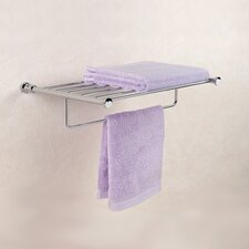 Cylinder Towel Holder with Shelf