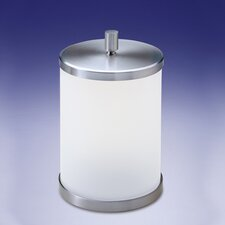 Frozen Glass Waste Basket with Lid