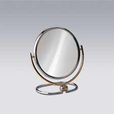 "8.8"" Free Standing 5X Magnifying Mirror with Optical Grade Glass"
