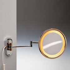 Incandescent Light 5X Magnifying Mirror with Direct Wired Connection