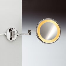 Incandescent Light 5X Magnifying Mirror with Two Arms