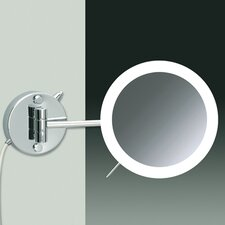 Wall Mounted 3X Magnifying LED Mirror with Direct Wired Two Arm and Sensor