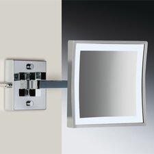 Wall Mounted 3X Magnifying LED Mirror with One Arm Direct Wired
