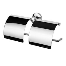 Standard Hotel Double Toilet Paper Roll Holder in Chrome
