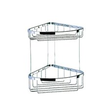 Basket Double Large Corner Shower Basket in Chrome