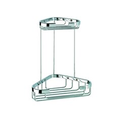 <strong>Geesa by Nameeks</strong> Basket Double Small Corner Shower Basket in Chrome