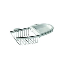 Basket Soap / Sponge Holder in Chrome