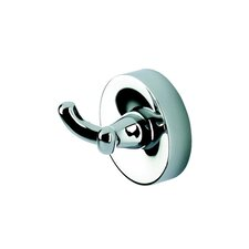 Luna Double Coat / Towel Hook in Chrome