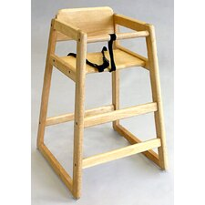 <strong>L.A. Baby</strong> Stackable Wood High Chair