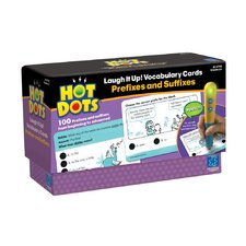 <strong>Educational Insights</strong> Hot Dots Laugh It Up! Vocabulary Cards - Prefixes and Suffixes