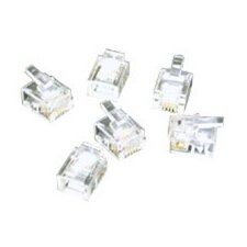 RJ11 Stranded Solid Cable Modular Plug (Set of 25)