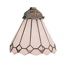 "<strong>Landmark Lighting</strong> Mix-N-Match 6"" Glass Shade in Bisque"