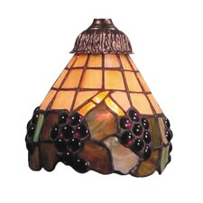 "<strong>Landmark Lighting</strong> Mix-N-Match 6"" Mix Fruit Design Glass Shade"