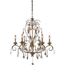Angelite 6 Light Chandelier