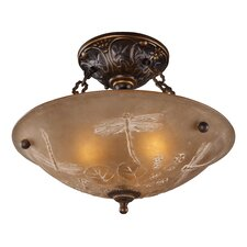 "16"" Restoration 3 Light Semi Flush Mount"