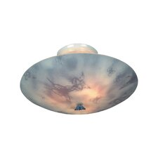 <strong>Landmark Lighting</strong> KidShine 3 Light Semi Flush Mount