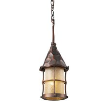 Rustica 1 Light Outdoor Pendant