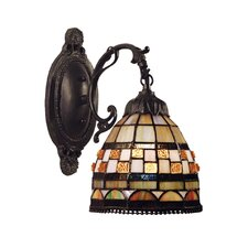 <strong>Landmark Lighting</strong> Jewelstone 1 Light Wall Sconce