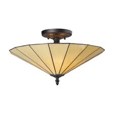 Lumino 3 Light Semi Flush Mount