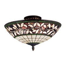 English Ivy 3 Light Semi Flush Mount