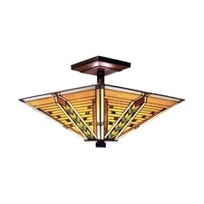 Arrowhead 3 Light Semi Flush Mount
