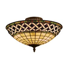 <strong>Landmark Lighting</strong> Angel Wing 3 Light Semi Flush Mount