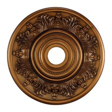 "<strong>Landmark Lighting</strong> 21"" Laureldale Medallion in Antique Brass"